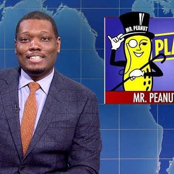 Michael Che hosts Weekend Update on Saturday Night Live, courtesy of NBCUniversal.