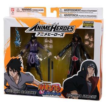Naruto: Shippuden Anime Heroes Itachi and Sasuke Uchiha Action Figure 2-Pack - Entertainment Earth Exclusive