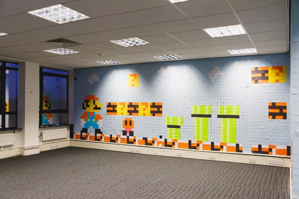 Office Supply Company Viking Got Super Into Mario – With Post-Its