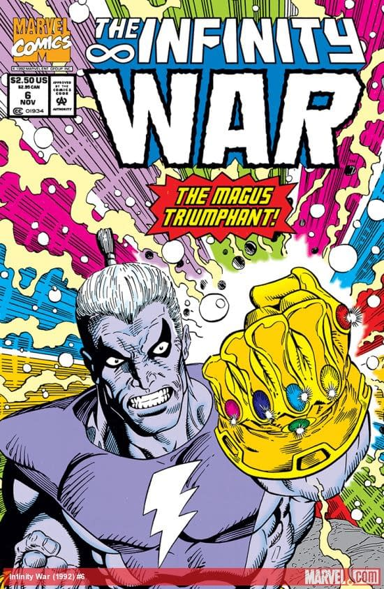 Infinity War #6 cover by Ron Lim and Al Milgrom