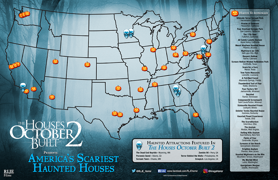 Find The Scariest Haunted Houses In The Country With This Map