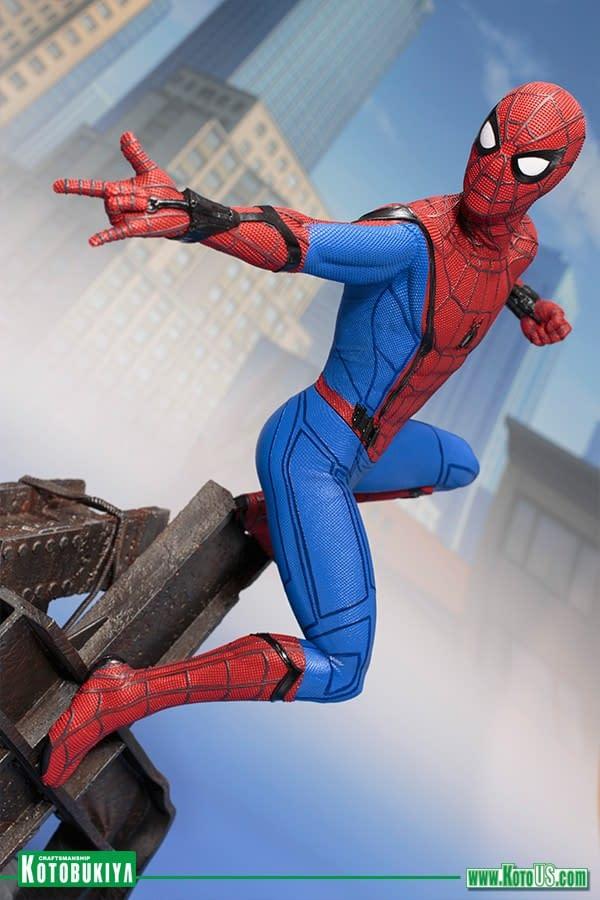 Kotobukiya Spider-Man: Homecoming Spidey Statue Coming in August