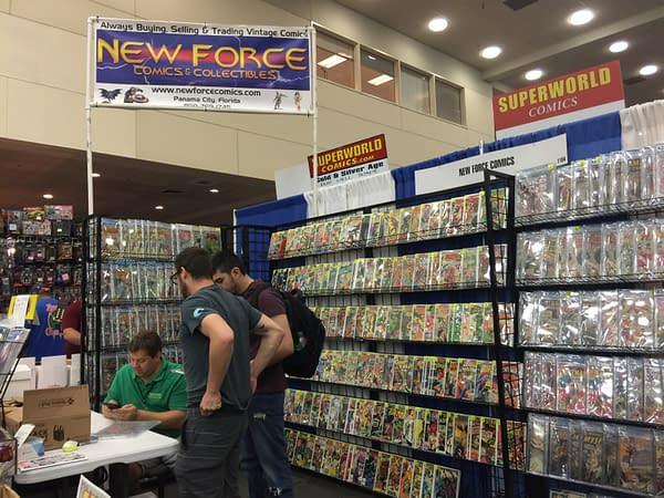 New Force Comics Vintage Comics display at Baltimore Comic-Con