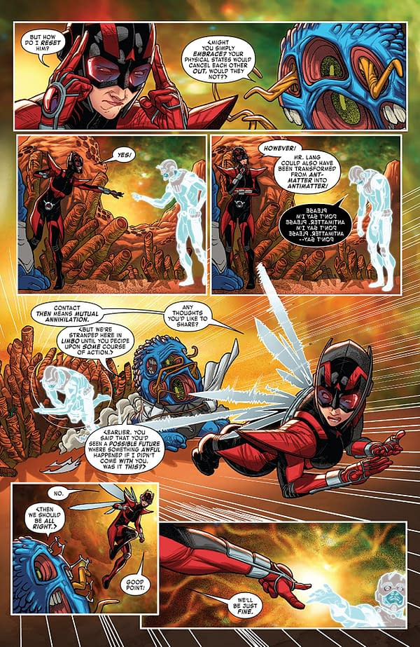 Ant-Man and the Wasp #4 art by Javier Garron and Israel Silva