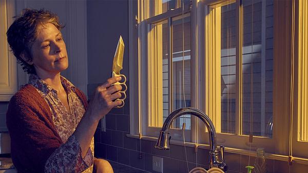 Carol apprécie les bonnes choses sur The Walking Dead, gracieuseté d'AMC.