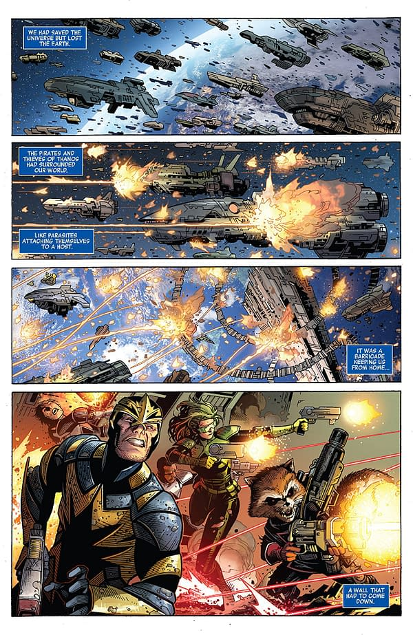 Infinity #6 art by Jim Cheung, Dustin Weaver, Justin Ponsor, and Ive Svorcina