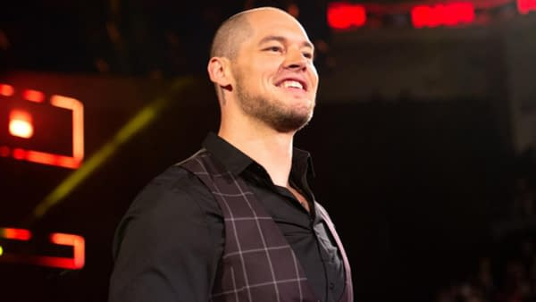 Baron Corbin is looking pretty proud, courtesy of WWE.