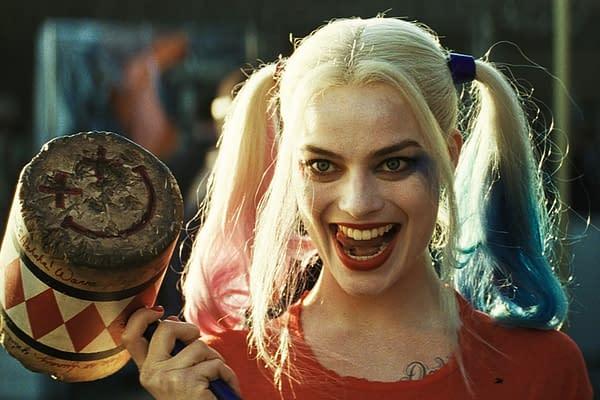 Margot Robbie dans le rôle de Harley Quinn dans Suicide Squad (2016). Image reproduite avec l'aimable autorisation de Warner Bros