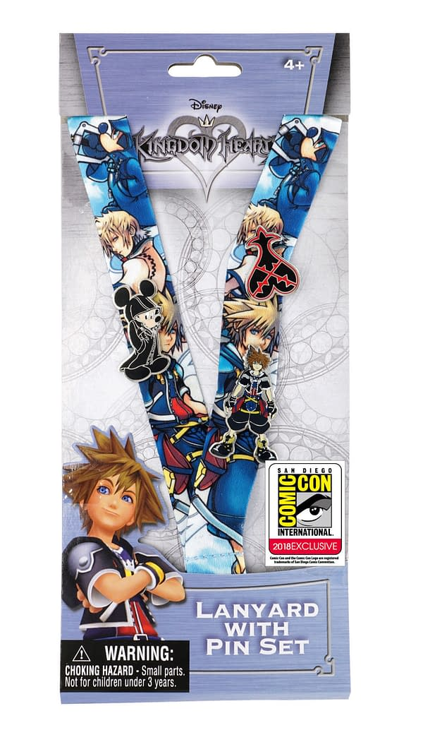 Monogram SDCC Exclusive Kingdom Hearts Lanyard and Pin Set