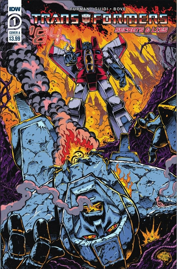 The cover of Transformers '84: Secrets & Lies#1 (of 4) published by IDW Publishing.