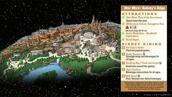 Set Nav Computers for Star Wars:Galaxy's Edge At Disney with the Official Map!