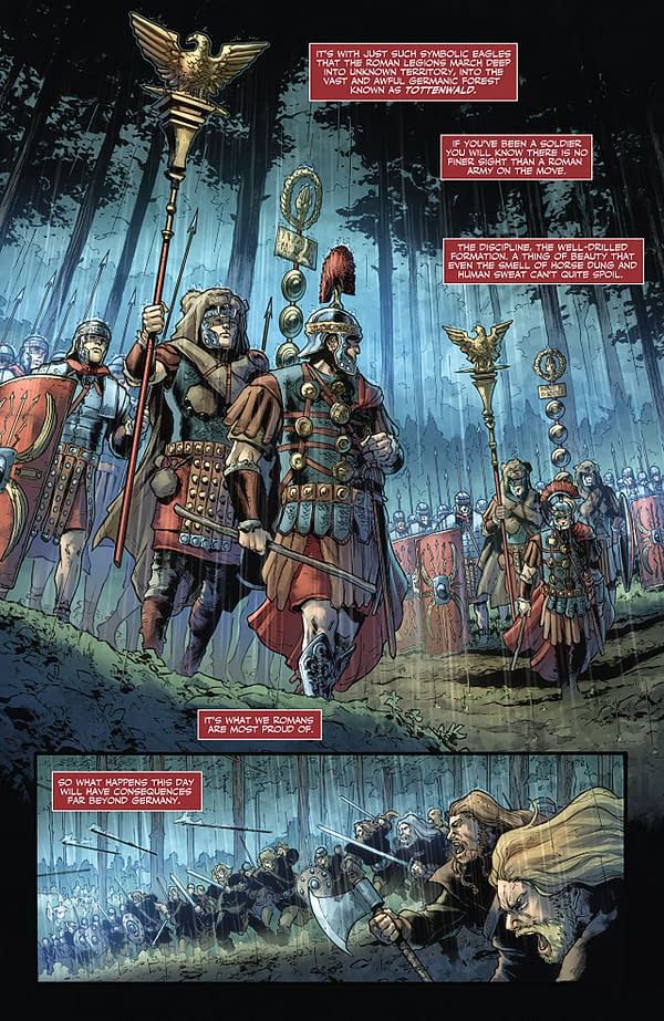 Britannia: Lost Eagles of Rome art by Robert Gill, Jose Villarrubia, and Diego Rodriguez