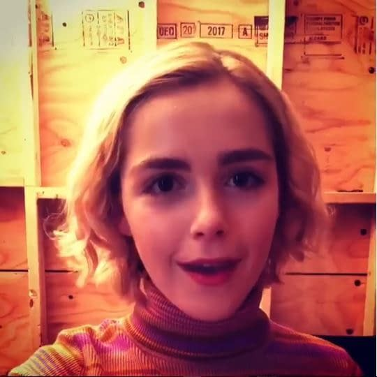 Chilling Adventures of Sabrina Set Video: Kiernan Shipka, Cast Welcome You to Their Coven