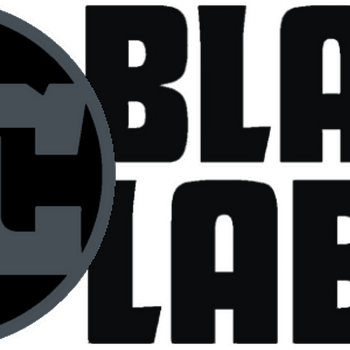 The logo for DC Comics' Black Label line of mature readers comic books.