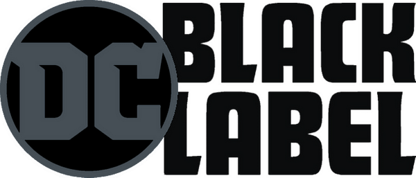 The logo for DC Comics' Black Label line of mature readers comic books, a number of which have now had their production paused.