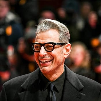 American actor Jeff Goldblum attends the Opening Ceremony and the 'Isle of Dogs' premiere during the 68th Berlinale International Film Festival Berlin 2018