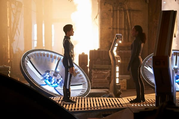 Burnham meets her mother on Star Trek: Discovery, courtesy of CBS All Access.