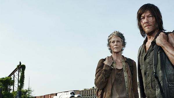 Carol et Daryl de The Walking Dead, gracieuseté d'AMC.