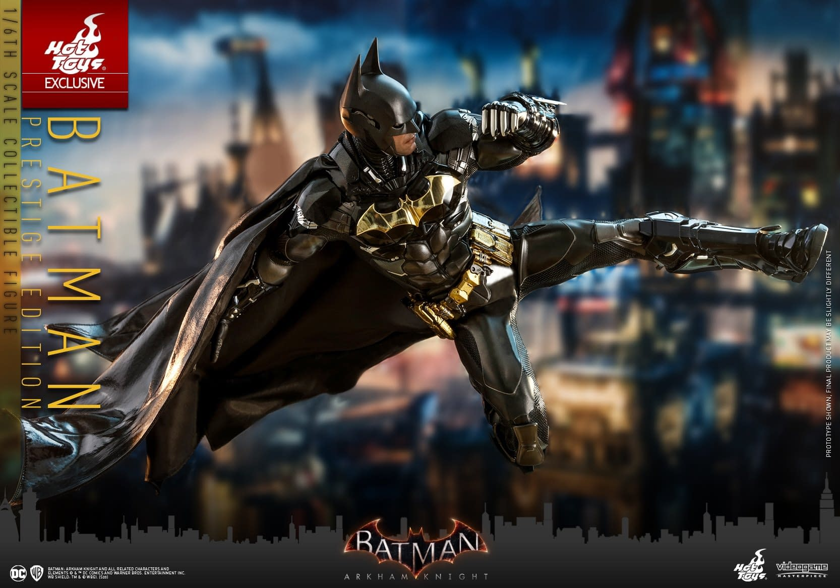 "Batman Goes Gold With New ""Arkham Knight"" Hot Toys Figure"