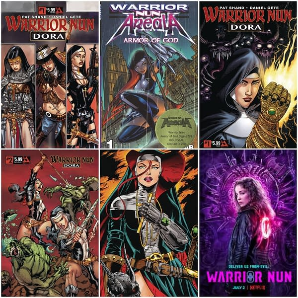 Warrior Nun Comics Comic Stores Can Order Right Now
