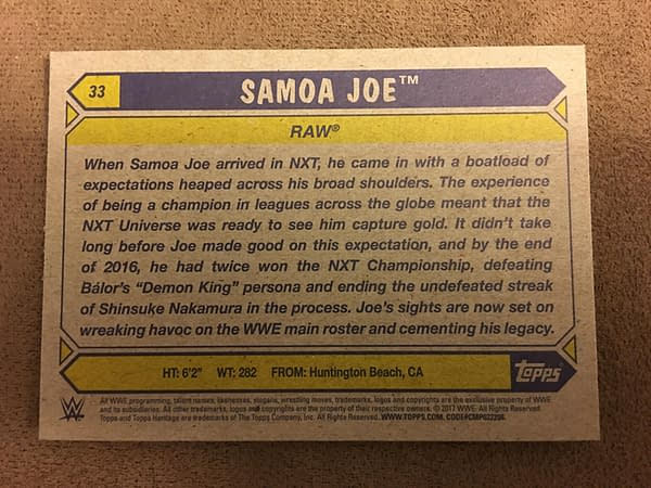 Topps 2017 WWE Heritage Cards 6
