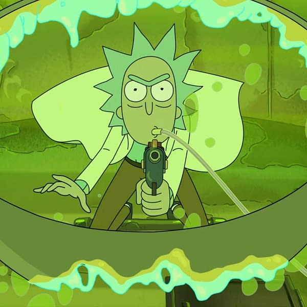 Rick's done waiting on Rick and Morty, courtesy of Adult Swim.