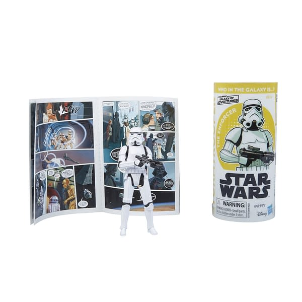 STAR WARS GALAXY OF ADVENTURES IMPERIAL STORMTROOPER Figure and Mini Comic (2)
