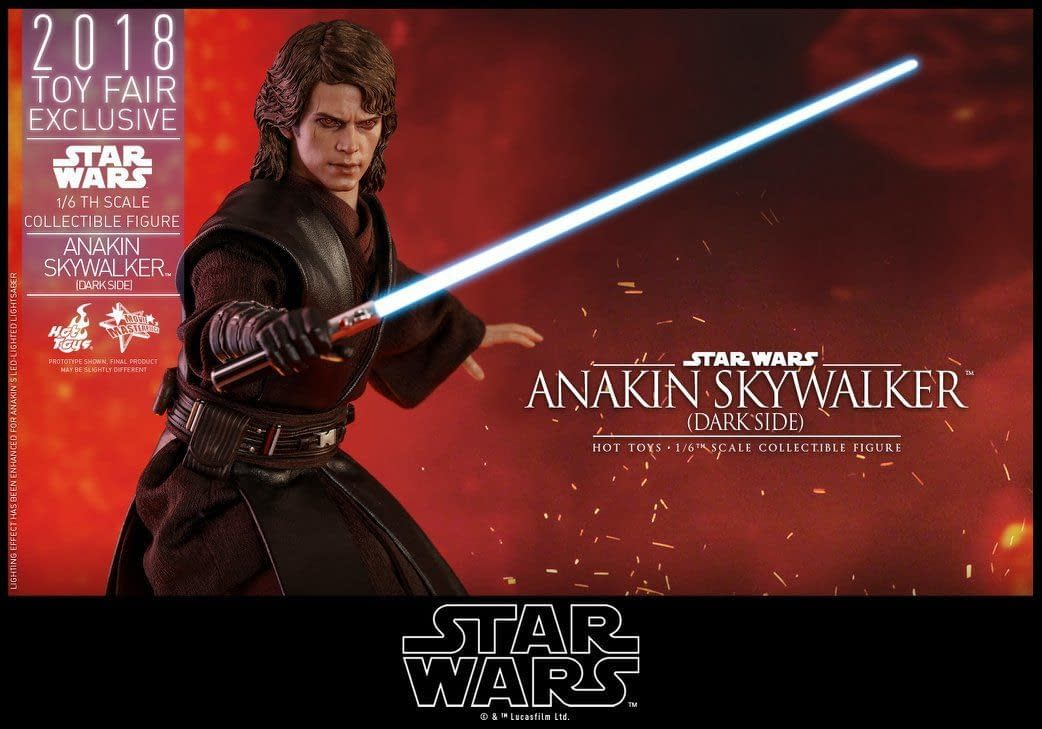 Hot Toys MMS486 Star Wars ANAKIN SKYWALKER Dark Side 1//6 Lightsaber Set