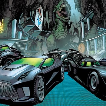 The Batcave Zoom background, one of many DC and Marvel Zoom backgrounds.