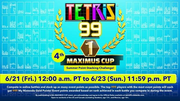 """Tetris 99"" Is Throwing Its Fourth Maximus Cup This Friday"