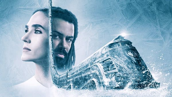 Jennifer Connelly and Daveed Diggs star in Snowpiercer, courtesy of TNT.