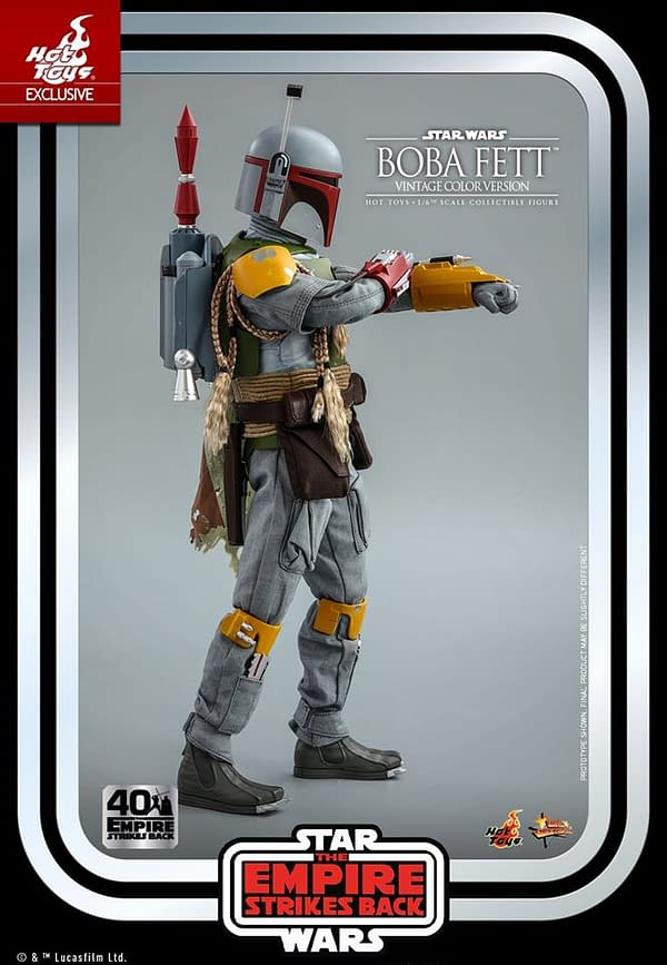 Hot Toys Empire Strikes Back Boba Fett Retro Throwback Figure