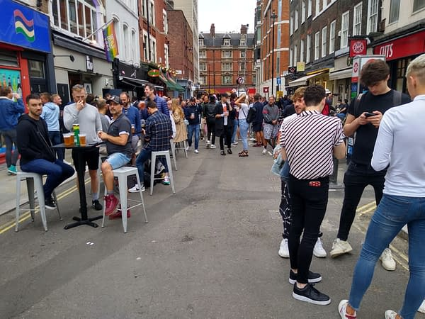Soho on England's Independence Day, 4th July