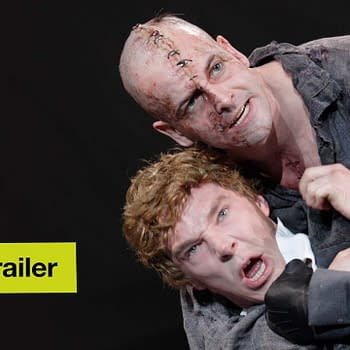 Benedict Cumberbatch and Jonny Lee Miller in Frankenstein, courtesy of the National Theatre.