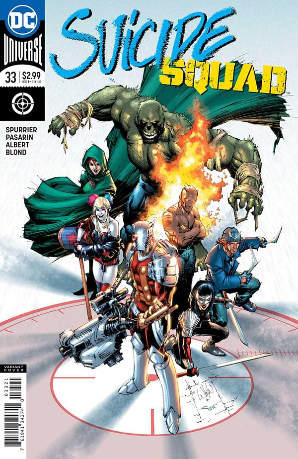 Suicide Squad #33 cover by Eddy Barrows