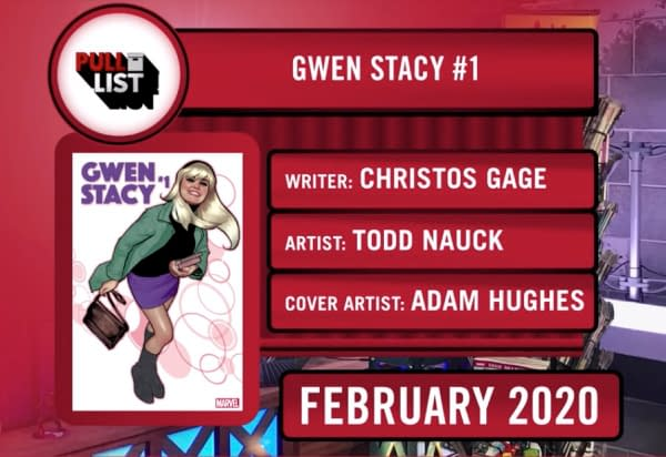 Gwen Stacy Gets Her Own Series at Marvel in February by Christos Gage and Todd Nauck