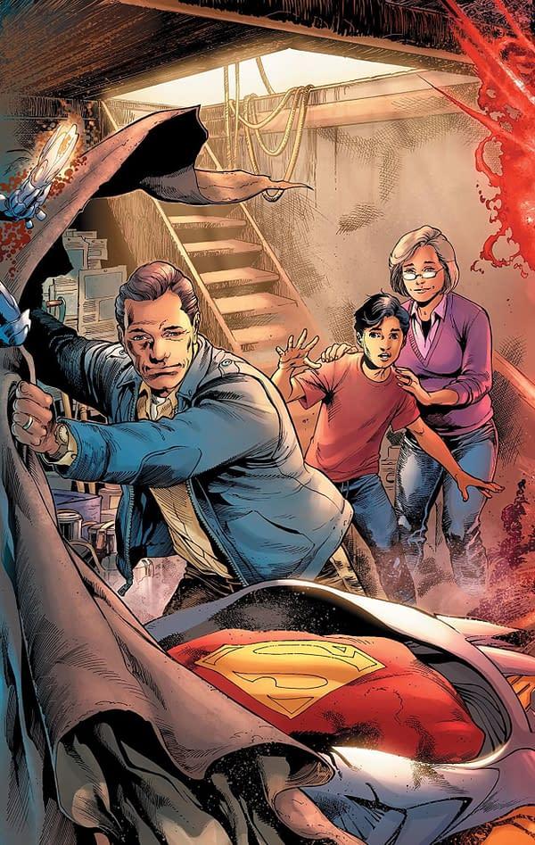 Man of Steel #2 cover by Ivan Reis, Joe Prado, and Alex Sinclair