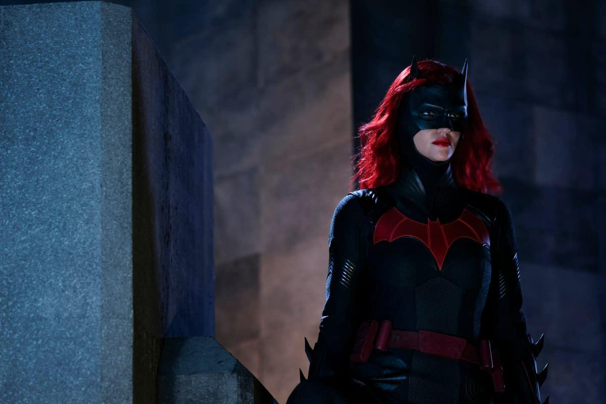 Batwoman in suit