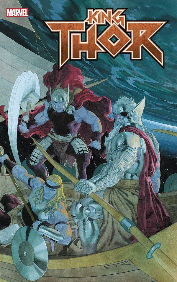 Jason Aaron Reunites With Chris Burnham, Esad Ribic, Nicolas Pitarra, Olivier Coipel and Steve Skroce On King Thor #4 Finale