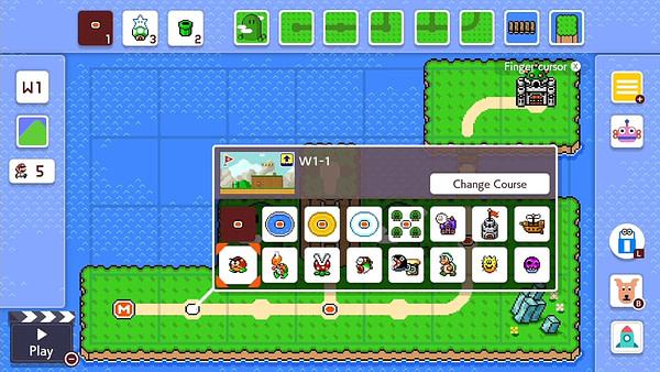 Enfin, la chance de créer une carte surmonde dans Super Mario Maker 2.