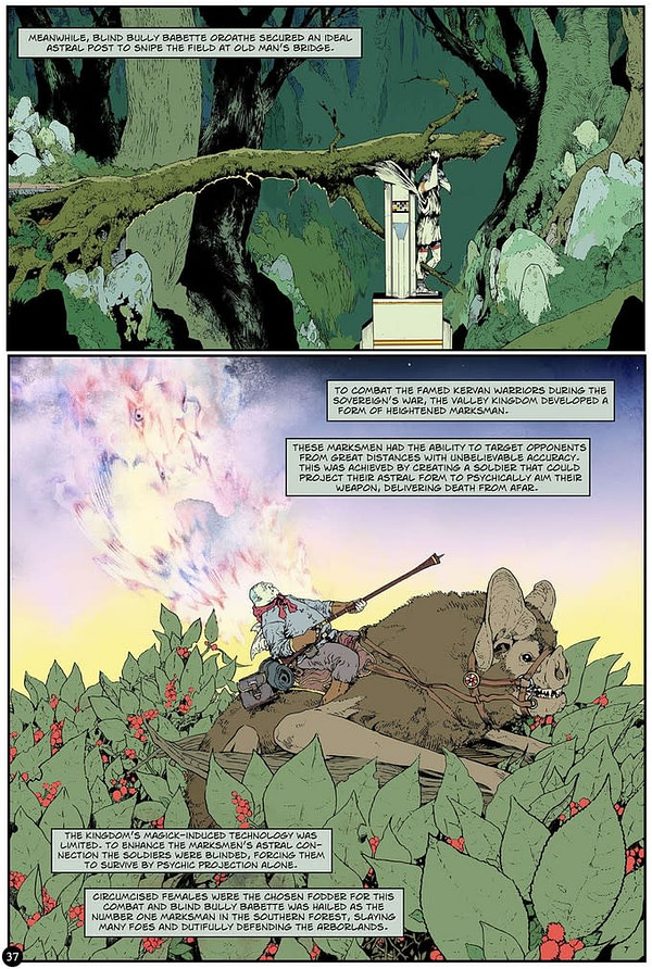 Version numérique du roman graphique fantastique, Fae Archaic, maintenant gratuit.