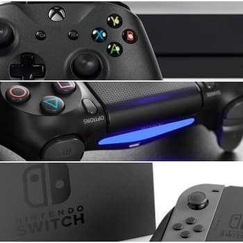 All Three Video Game Consoles Xbox Playstation Switch
