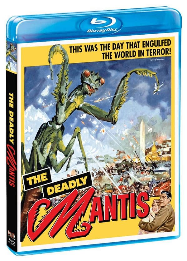The Deadly Mantis Scream Factory Blu Ray Cover