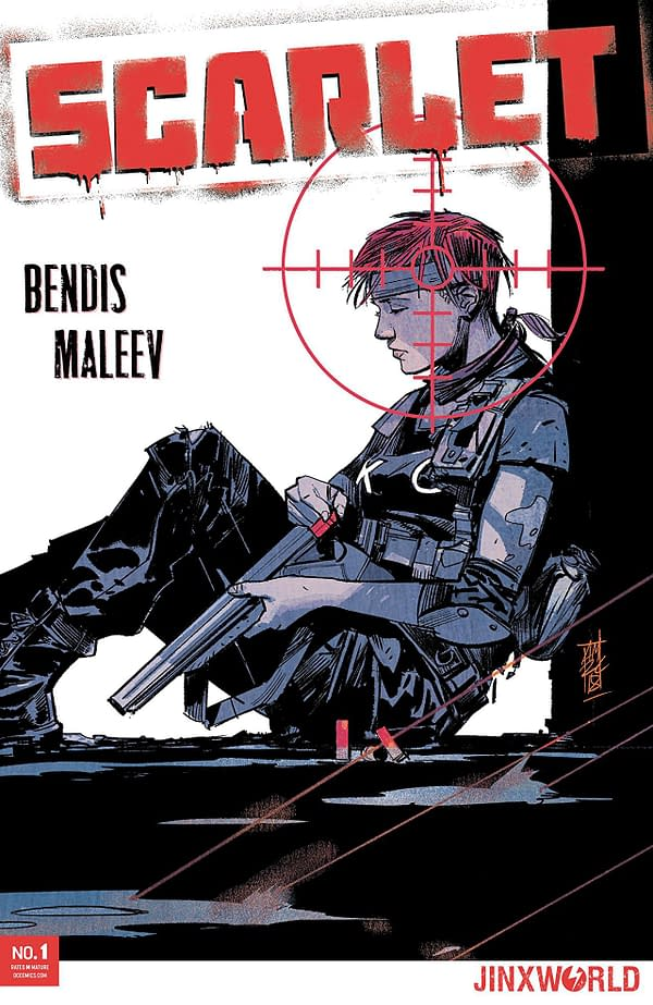 Scarlet #1 cover by Alex Maleev