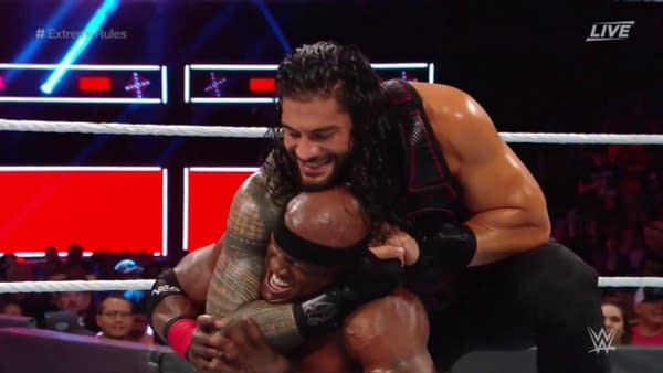 """Bobby Lashley Steals Roman Reigns's """"Big Dog"""" Nickname After Extreme Rules Win"""