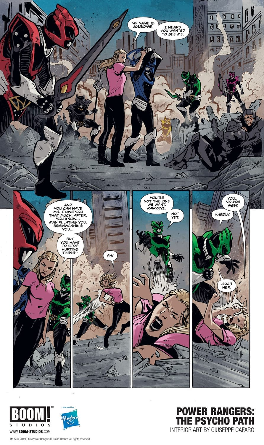 First Look at BOOM!'s Power Rangers: The Psycho Path OGN