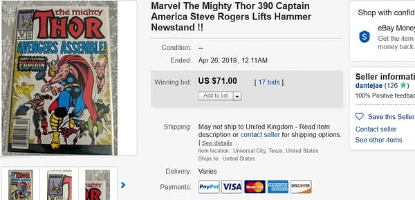 Mighty Thor #390 Rockets In Value Over Avengers: Endgame Spoilers