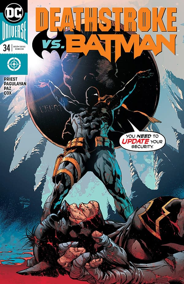 Deathstroke #34 cover by Robson Rocha, Daniel Henriques, and Brad Anderson