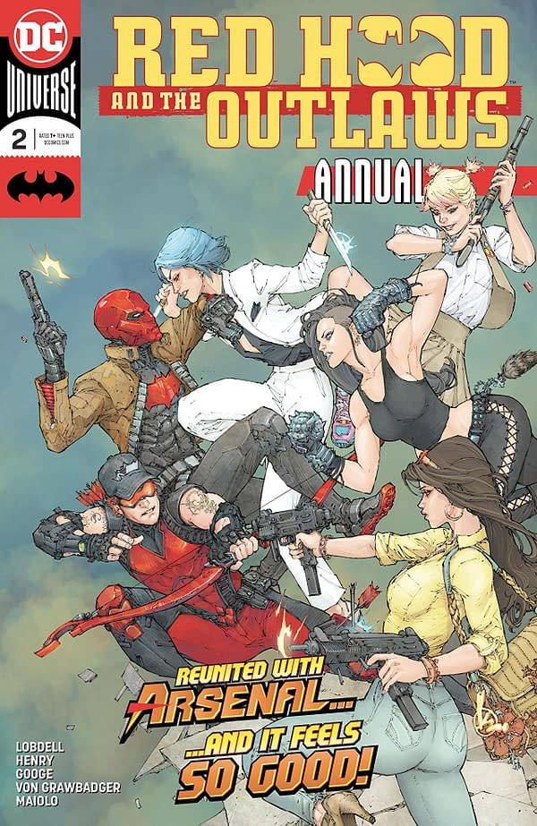 Red Hood and the Outlaws Annual #2 cover by Kenneth Rocafort