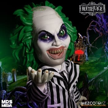 It's Showtime With the New Talking Beetlejuice From Mezco Toyz